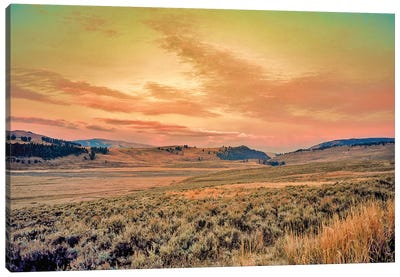 Yellowstone Sunrise Canvas Art Print