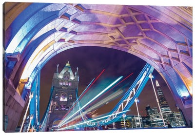 A Drive Through Tower Bridge Canvas Art Print