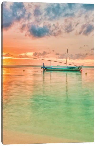 Maldives Sunset Canvas Art Print