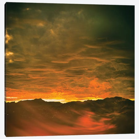Mountain Sunset Canvas Print #PAU243} by Mark Paulda Canvas Print