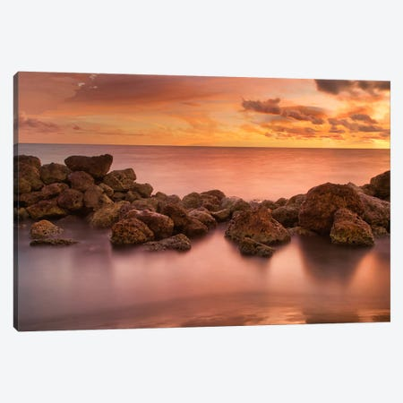 Caribbean Sea Sunset Canvas Print #PAU252} by Mark Paulda Canvas Art