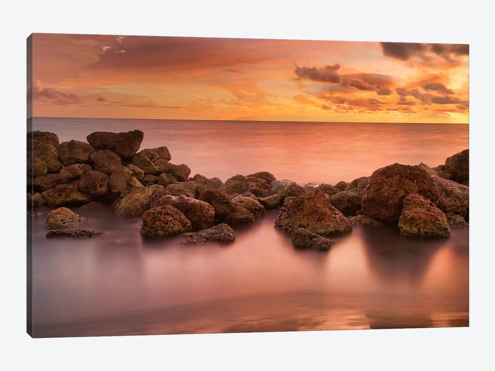 Caribbean Sea Sunset by Mark Paulda 1-piece Canvas Wall Art