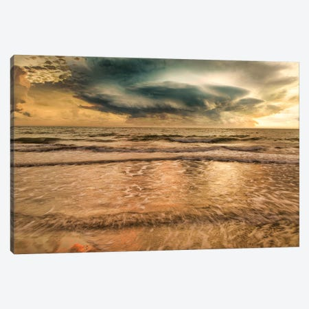 Unsettled Sea Canvas Print #PAU255} by Mark Paulda Canvas Art Print