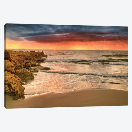 Sunset Thunderstorm Canvas Print #PAU258} by Mark Paulda Canvas Artwork