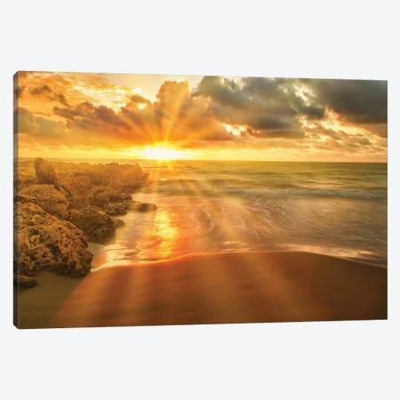 Caribbean Sun Rays Canvas Print #PAU259} by Mark Paulda Canvas Art