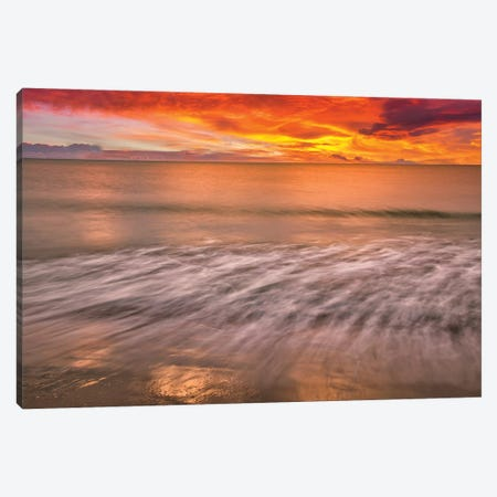 Sunset Waves Canvas Print #PAU264} by Mark Paulda Canvas Artwork