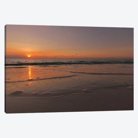 Sunset Over Aruba Canvas Print #PAU26} by Mark Paulda Canvas Wall Art