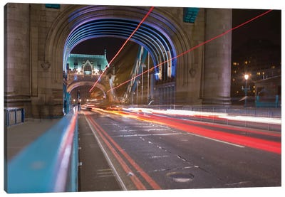 Tower Bridge At Night I, London, England, United Kingdom Canvas Art Print