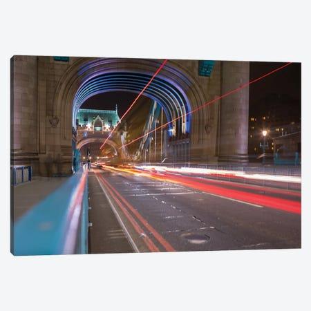 Tower Bridge At Night I, London, England, United Kingdom Canvas Print #PAU27} by Mark Paulda Canvas Art