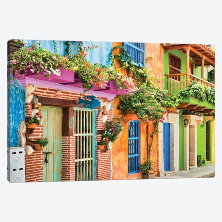 Cartagena Colours Canvas Print #PAU289} by Mark Paulda Canvas Art Print