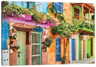 Cartagena Colours Canvas Art Print