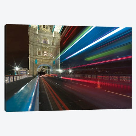 Tower Bridge At Night II, London, England, United Kingdom Canvas Print #PAU28} by Mark Paulda Canvas Art Print