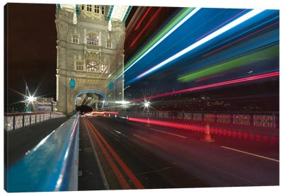 Tower Bridge At Night II, London, England, United Kingdom Canvas Art Print