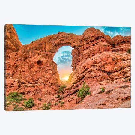 Desert Arch Sunset Canvas Print #PAU296} by Mark Paulda Canvas Art Print
