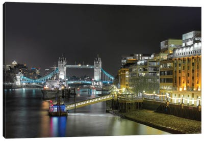 Tower Bridge From Afar, London, England, United Kingdom Canvas Art Print