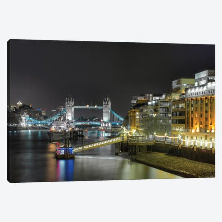 Tower Bridge From Afar, London, England, United Kingdom Canvas Print #PAU29} by Mark Paulda Canvas Print