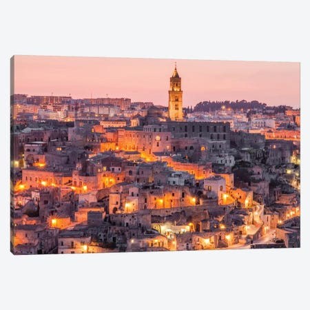 A Night In Matera Italy Canvas Print #PAU2} by Mark Paulda Canvas Art Print