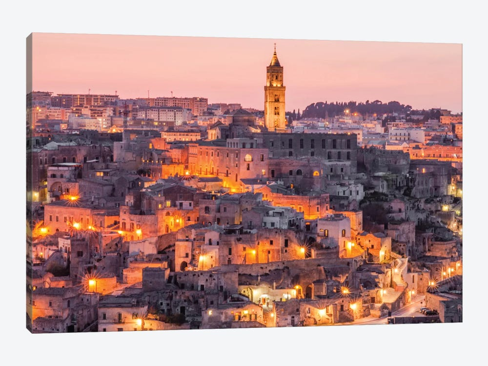 A Night In Matera Italy by Mark Paulda 1-piece Art Print