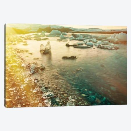 Jökulsárlón Glacier Lagoon Canvas Print #PAU305} by Mark Paulda Art Print