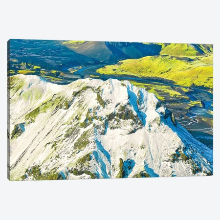 Iceland From Air 3-Piece Canvas #PAU311} by Mark Paulda Canvas Print