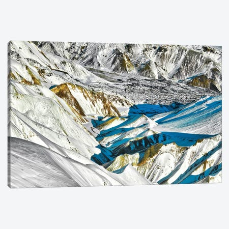 Iceland Glacier Valley 3-Piece Canvas #PAU312} by Mark Paulda Canvas Print