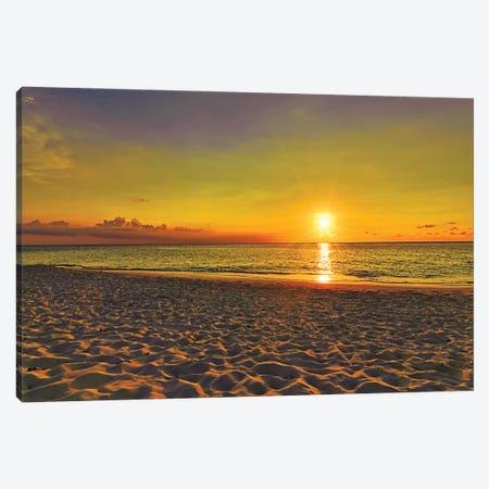 Aruba Golden Sunset Canvas Print #PAU322} by Mark Paulda Canvas Art