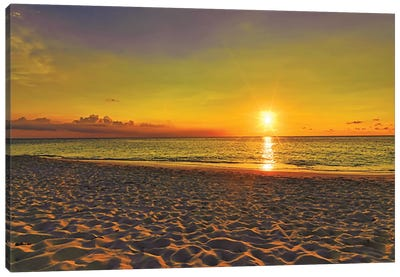 Aruba Golden Sunset Canvas Art Print