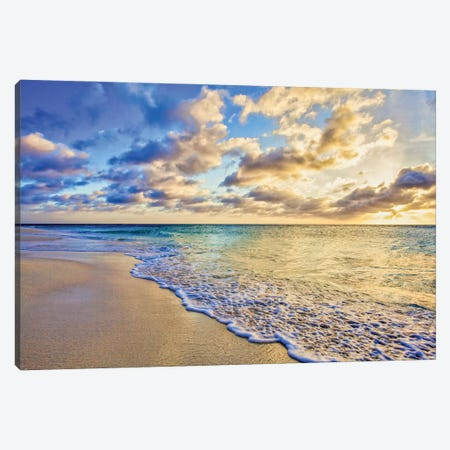 Aruba Calm Golden Wave Canvas Print #PAU330} by Mark Paulda Canvas Art Print