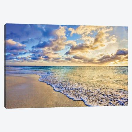 Aruba Calm Golden Wave Canvas Print #PAU330} by Mark Paulda Canvas Art Print