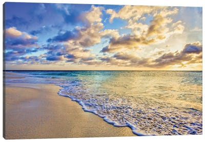 Aruba Calm Golden Wave Canvas Art Print