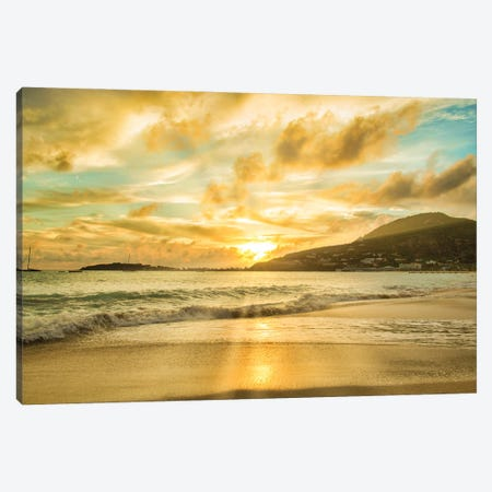Caribbean Sunset Canvas Print #PAU343} by Mark Paulda Canvas Artwork