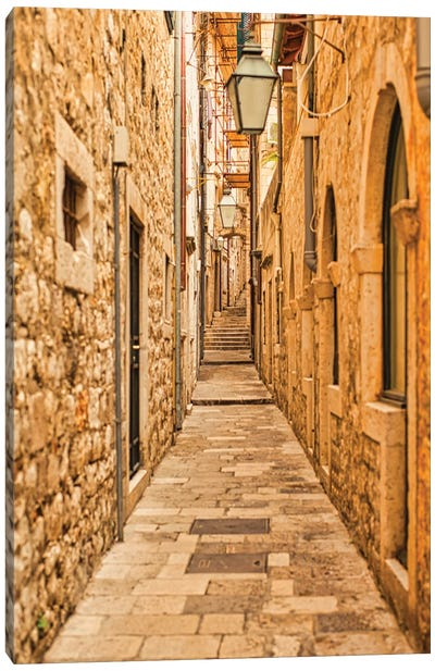 Dubrovnik Alley Canvas Art Print
