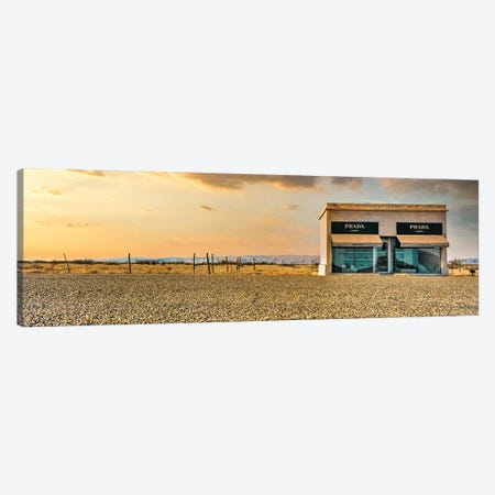 Prada Marfa Panoramic Canvas Print #PAU358} by Mark Paulda Canvas Art Print