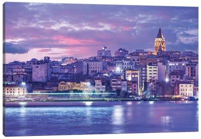 Galata Tower Twilight Canvas Art Print
