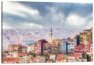 Istanbul Fog Canvas Art Print