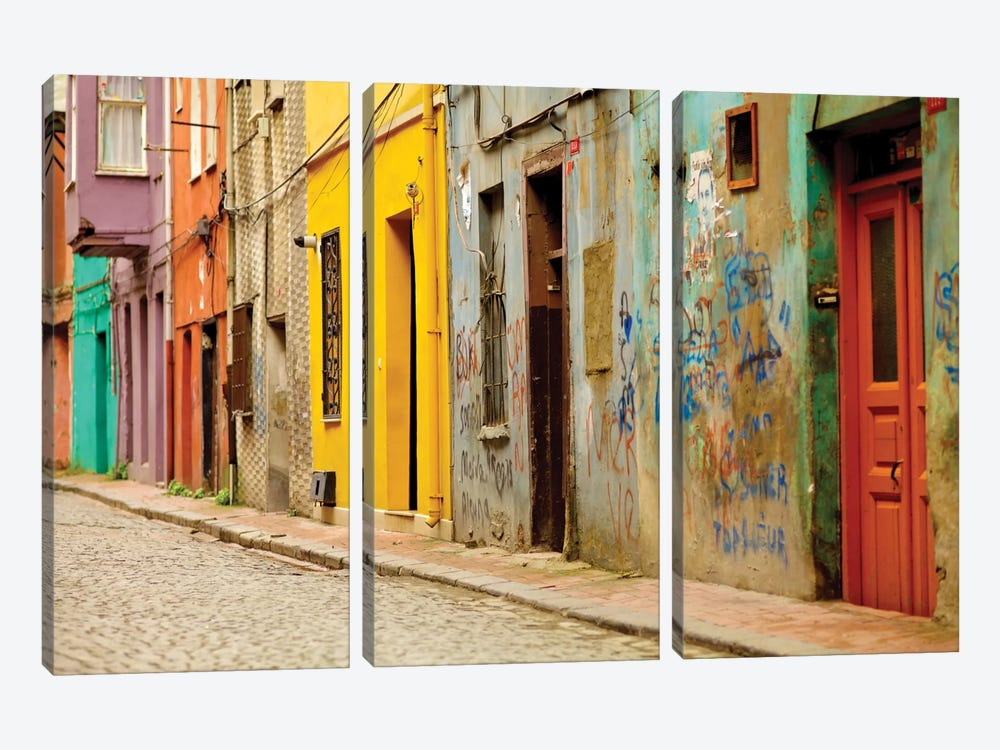 Beyoglu Alley, Istanbul, Turkey by Mark Paulda 3-piece Canvas Wall Art