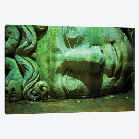 Istanbul, Turkey Basilica Cistern Medusa Canvas Print #PAU46} by Mark Paulda Canvas Artwork