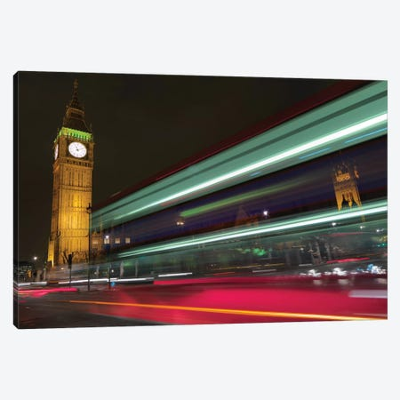 Big Ben At Night, London, England, United Kingdom Canvas Print #PAU4} by Mark Paulda Canvas Wall Art