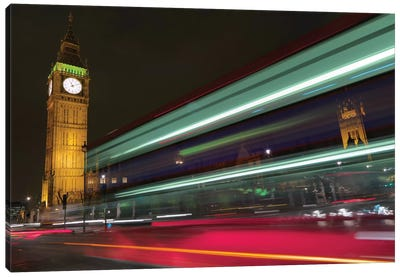 Big Ben At Night, London, England, United Kingdom Canvas Art Print