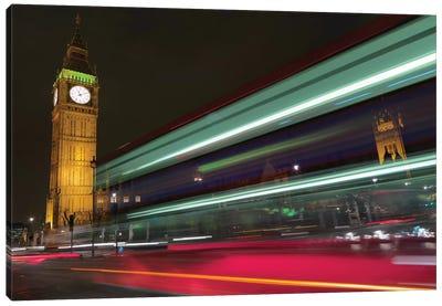 Big Ben At Night, London, England, United Kingdom Canvas Print #PAU4