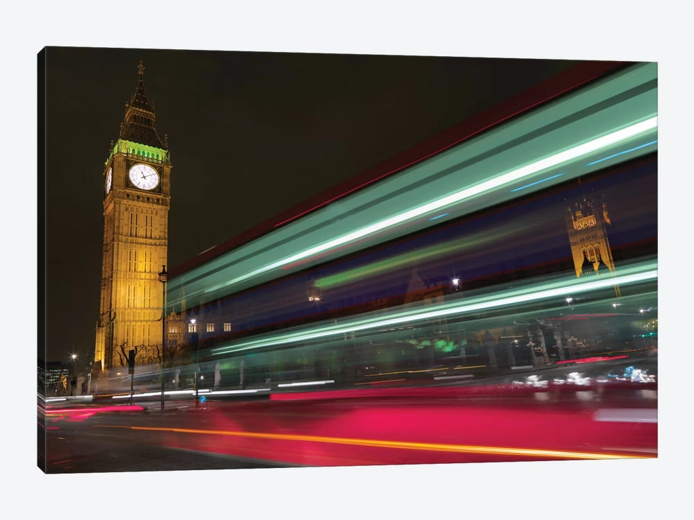 Big Ben At Night, London, England, United Kingdom 1-piece Canvas Art Print