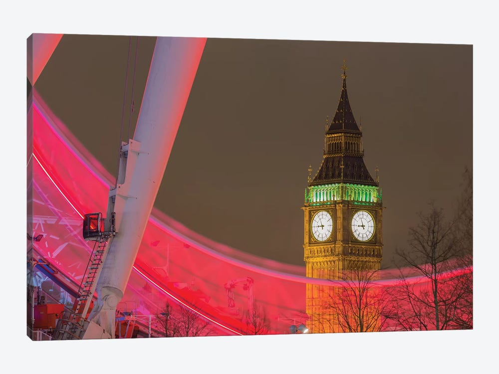Big Ben And London Eye I by Mark Paulda 1-piece Canvas Print