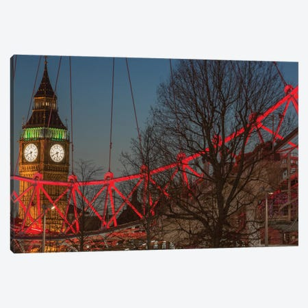Big Ben And London Eye II Canvas Print #PAU52} by Mark Paulda Canvas Wall Art