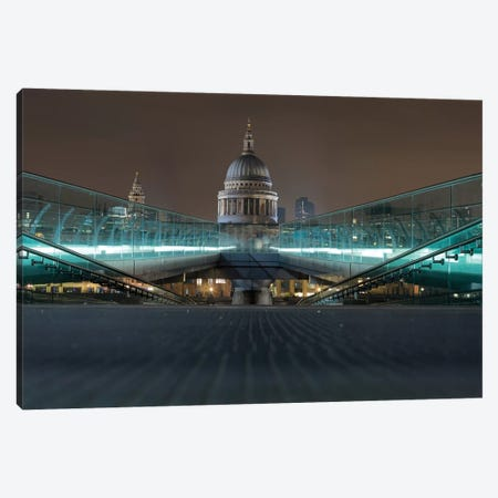 Millennium Bridge And St. Paul's Cathedral Canvas Print #PAU53} by Mark Paulda Canvas Art