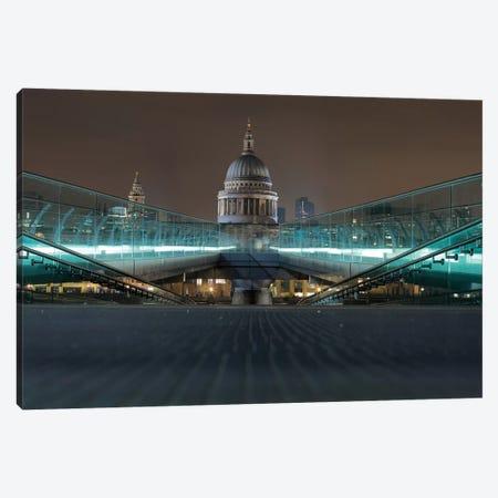 Millennium Bridge And St. Paul's Cathedral Canvas Print #PAU53} by Mark Paulda Canvas Art