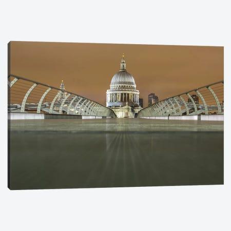 St. Paul's Cathedral And Millennium Bridge, London Canvas Print #PAU60} by Mark Paulda Canvas Print