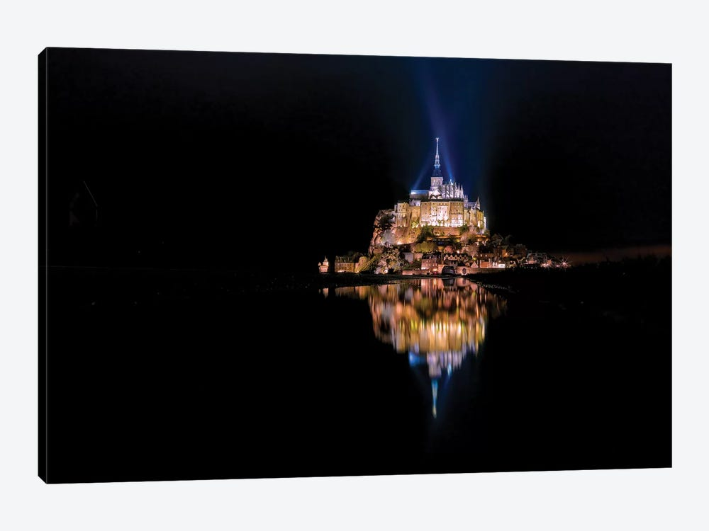 Mont Saint Michel Reflection by Mark Paulda 1-piece Canvas Wall Art