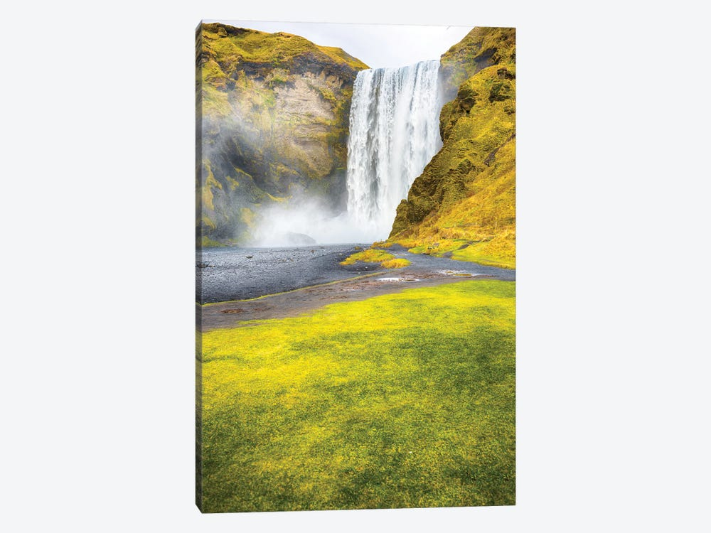 Skogafoss Iceland by Mark Paulda 1-piece Canvas Art Print