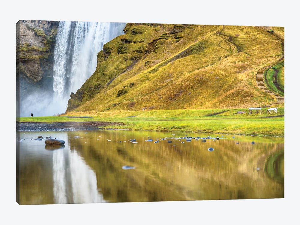 Iceland Skogafoss Reflections by Mark Paulda 1-piece Canvas Wall Art