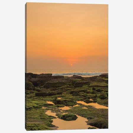 Bali Sunset Reflection Canvas Print #PAU79} by Mark Paulda Canvas Artwork